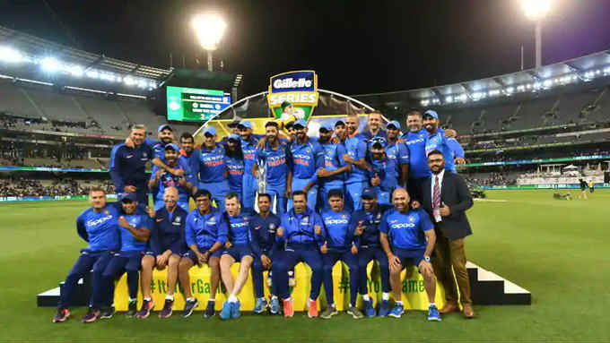 Ms Dhoni Guides India Historic Odi Series Win Australia Twitterati Tip Their Hat
