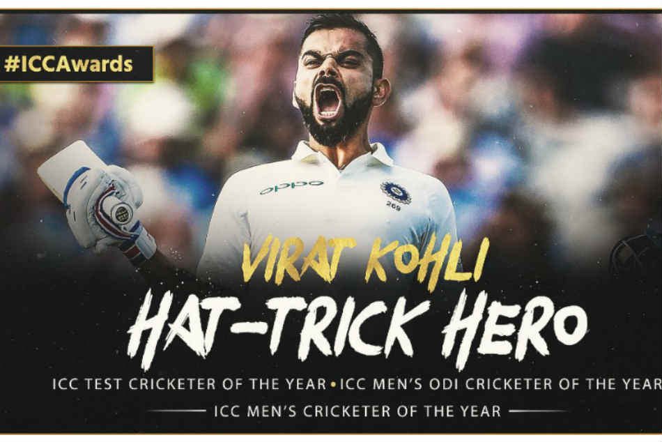 ICC Awards: Steve Smith one year ban helped virat kohli to bag icc test cricketer of the year 2018