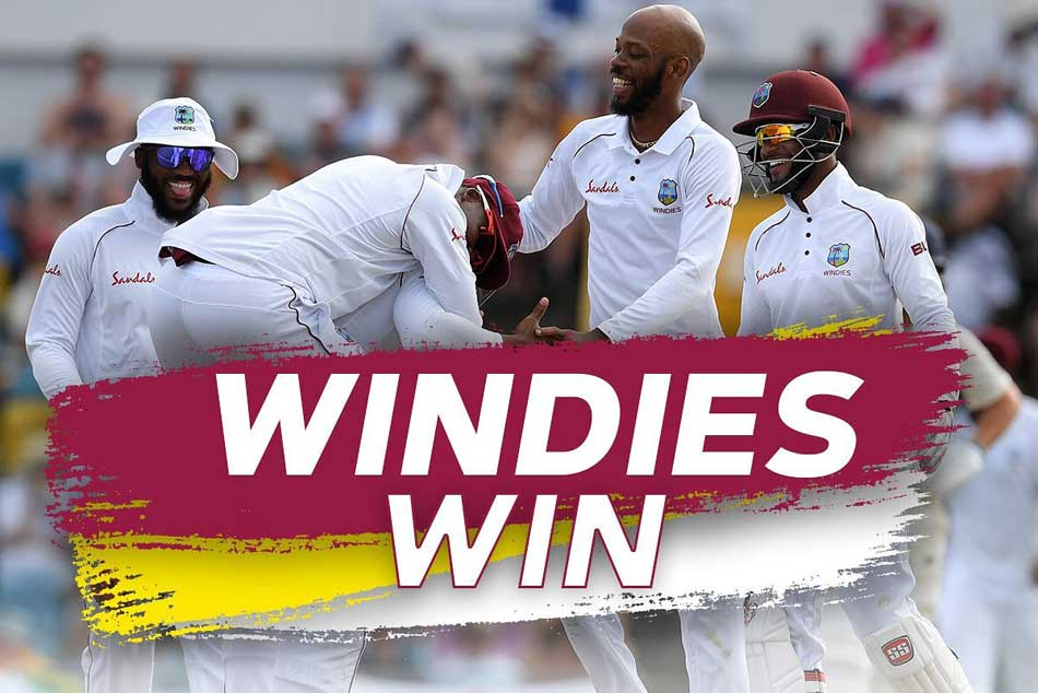 st Test Eight Wicket Roston Chase Stars As Windies Humiliate England By 381 Runs