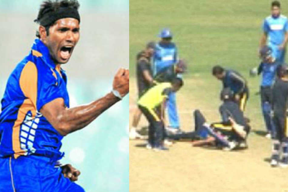 Pacer Ashok Dinda was hit on the head during a practice game at the Eden Gardens in Kolkata