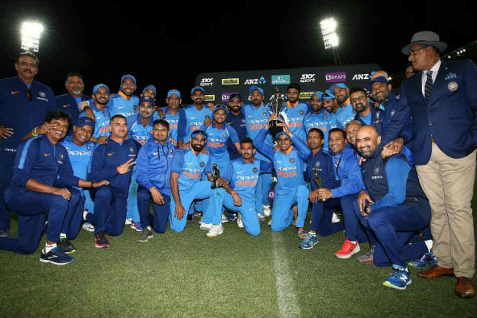 Hows the Josh chant Indian players after winning ODI series versus New Zealand for first time in 10 years