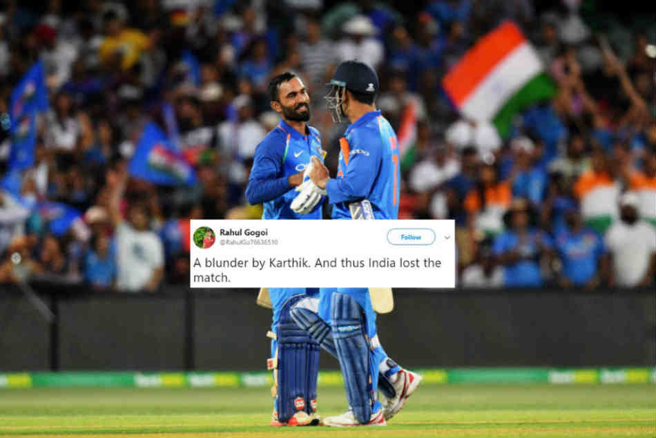 Are You Dhoni?: Dinesh Karthik Trolled For Denying Crucial Single in Final T20