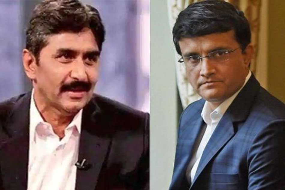 I Think Sourav Ganguly Wants Run Elections Javed Miandad Hits Out At Dada For Boycott Comments