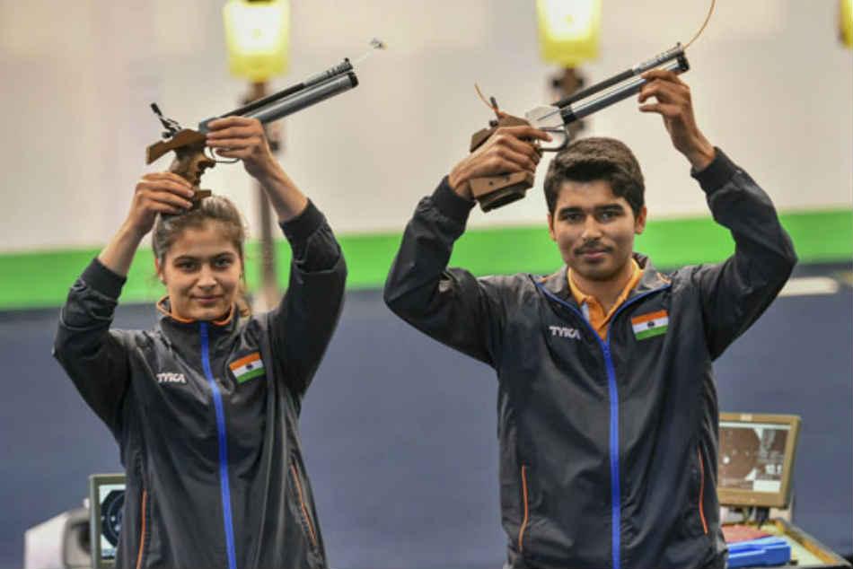 Saurabh Manu Combine Shoot Gold 10m Air Pistol Mixed Event