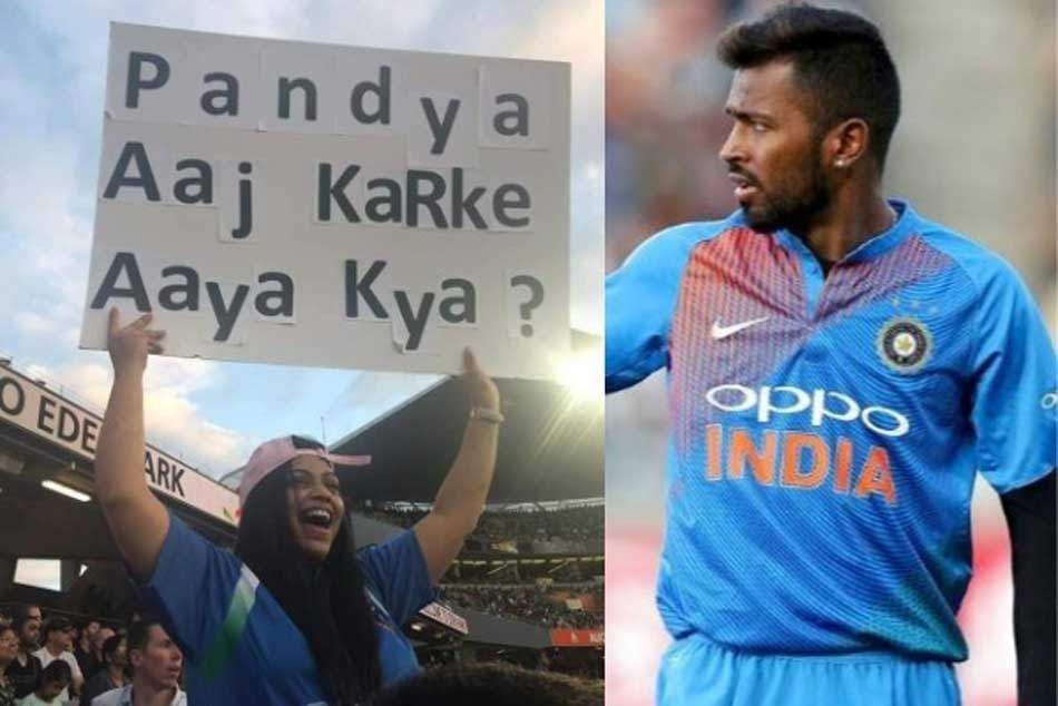 Woman Uses Banner Troll Hardik Pandya Over Koffee With Karan Controversy
