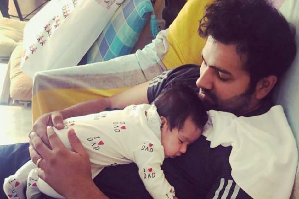 Rohit Sharma Shares An Adorable Pic With Daughter Samaira