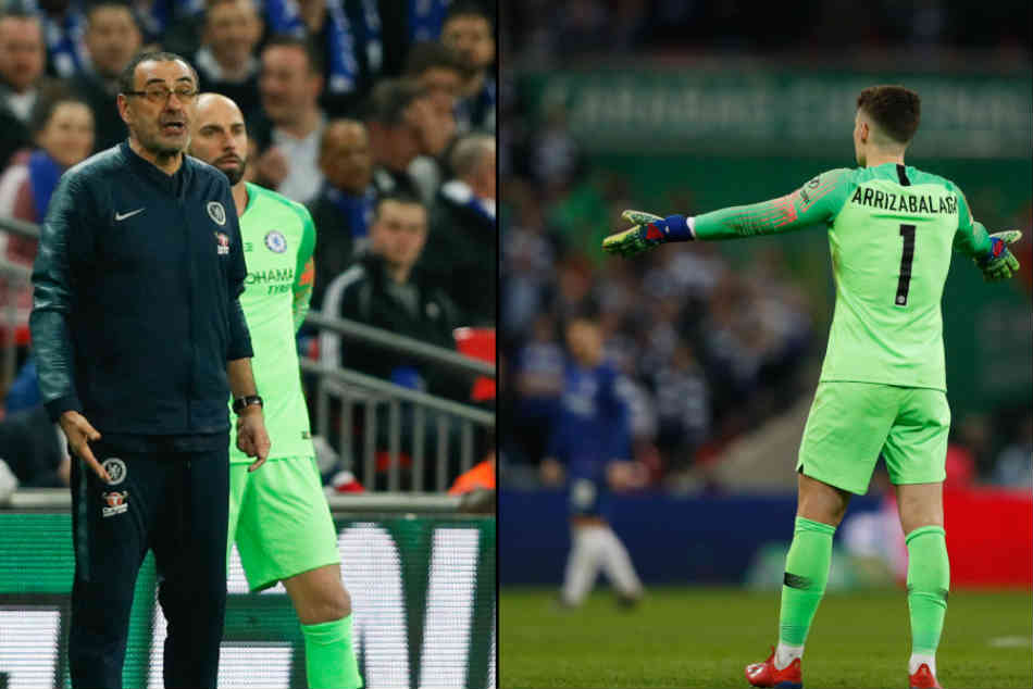 Kepa Vs Sarri Chelsea Loses Efl Cup Final Against Manchester City Star Goalkeeper Refuses