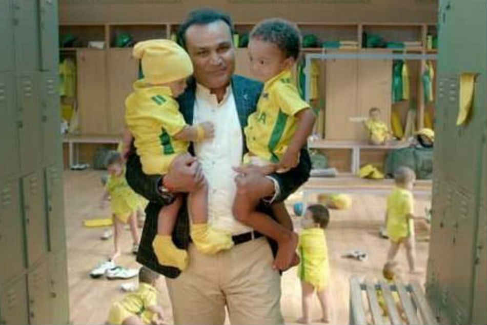 Matthew Hayden responds to Sehwags babysitting ad