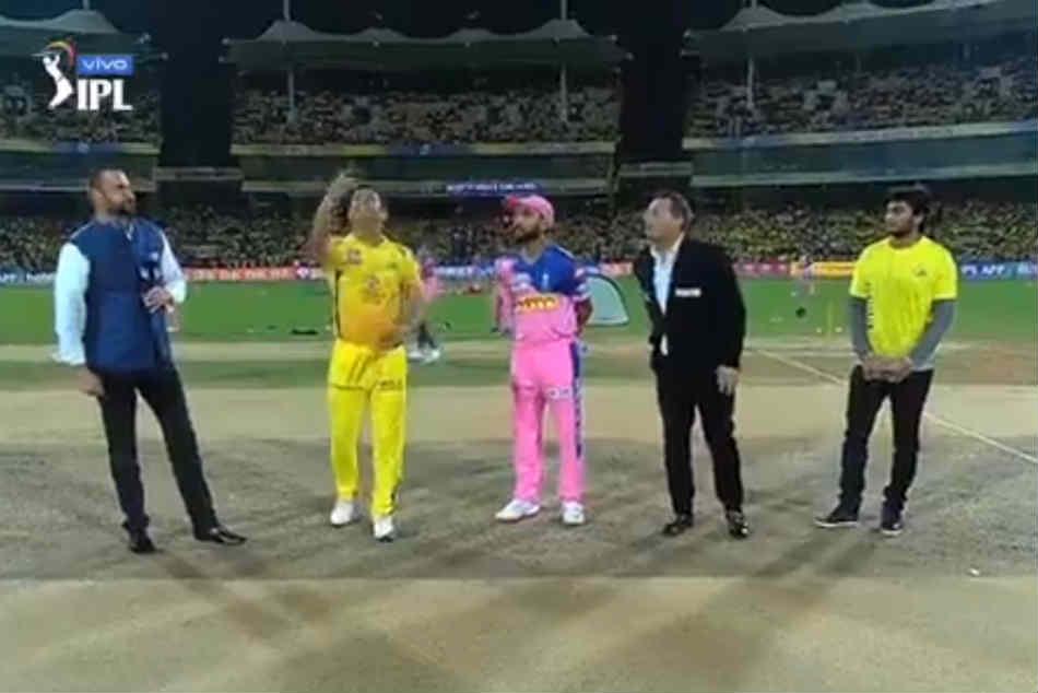 Ipl 2019 Csk Vs Rr Ipl Score Rajasthan Royals Win Toss Opt Bowl Against Chennai Super Kings