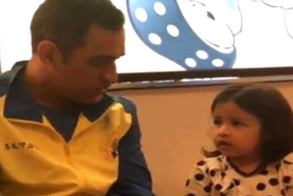 Ms Dhoni Talking Daughter Ziva Six Languages Will Make Your Day