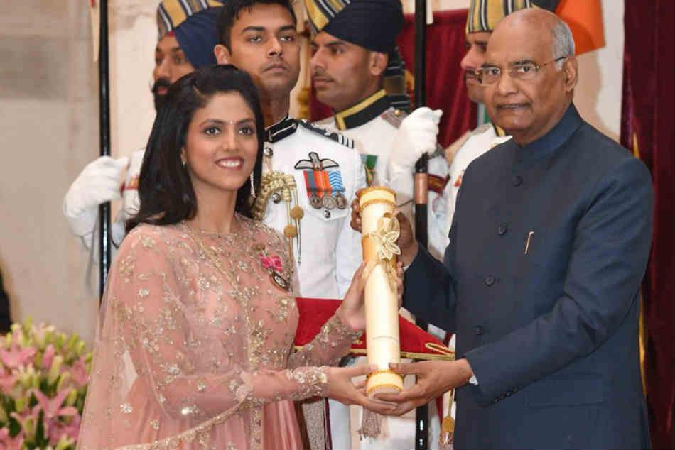 President Ram Nath Kovind Confers Padma Shri Bajrang Punia Sharath Kamal Ajay Thakur See Pics