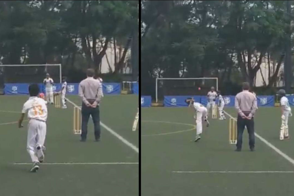 How U 13 Boy From Hong Kong Copies The Style This Indian Bowler