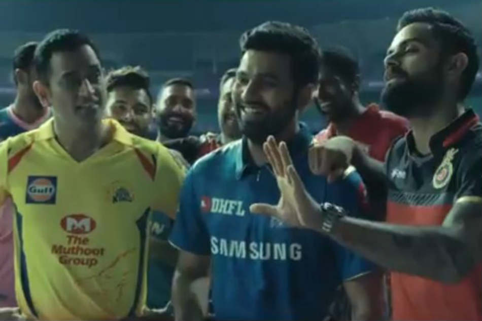 Ipl 2019 Anthem Ms Dhoni Outsmarts Virat Kohli Dares Youngsters Watch