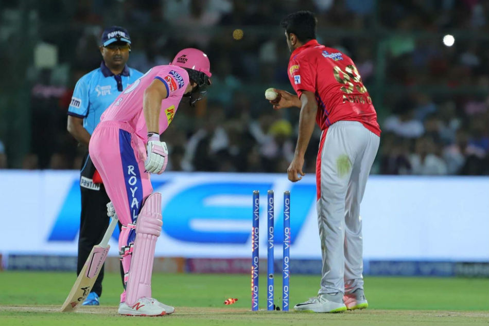 Ipl 2019 R Ashwin Sparks Controversy As He Mankads Jos Buttler