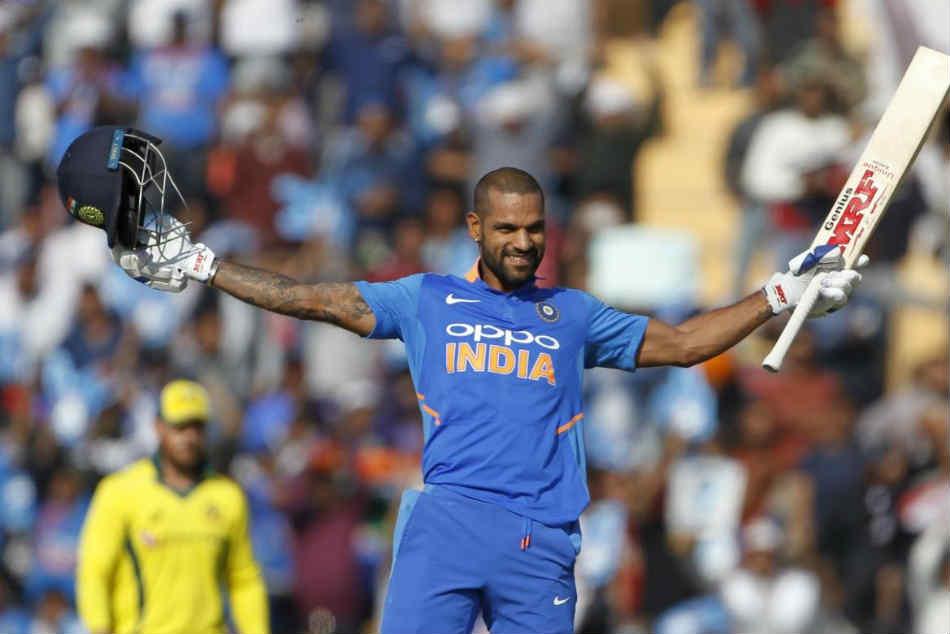 India Vs Australia 4th Odi Live Cricket Score Shikhar Dhawan Scores Sensational Ton