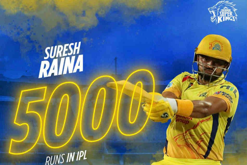 Suresh Raina Becomes First Batsman Reach 5000 Ipl Runs
