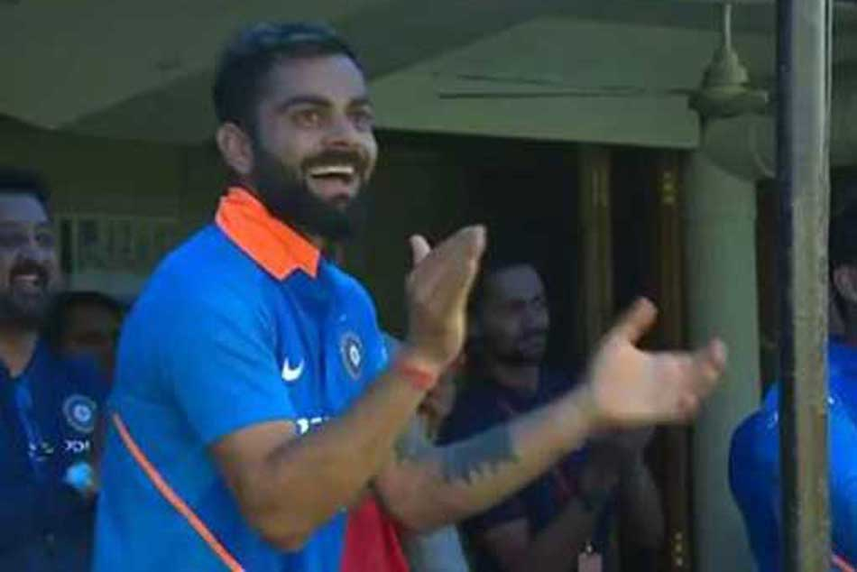 Watch Virat Kohli S Euphoric Reaction As Jasprit Bumrah Hits Last Ball