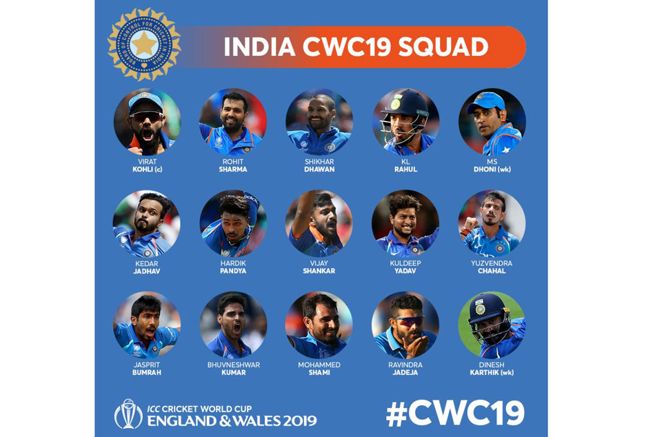 Team Comparison 2015 Vs 2019 India Squad For Icc World Cup At England