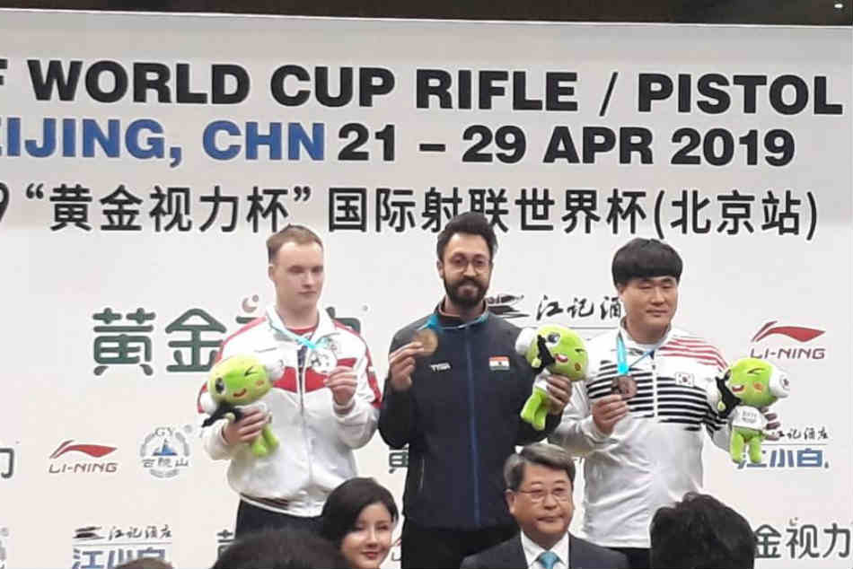 Issf World Cup Abhishek Verma Shoots Gold Seals Olympic Quota