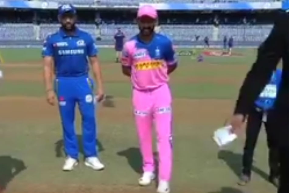 Ipl 2019 Mi Vs Rr Ipl Score Rajasthan Royals Win The Toss And Elect To Field
