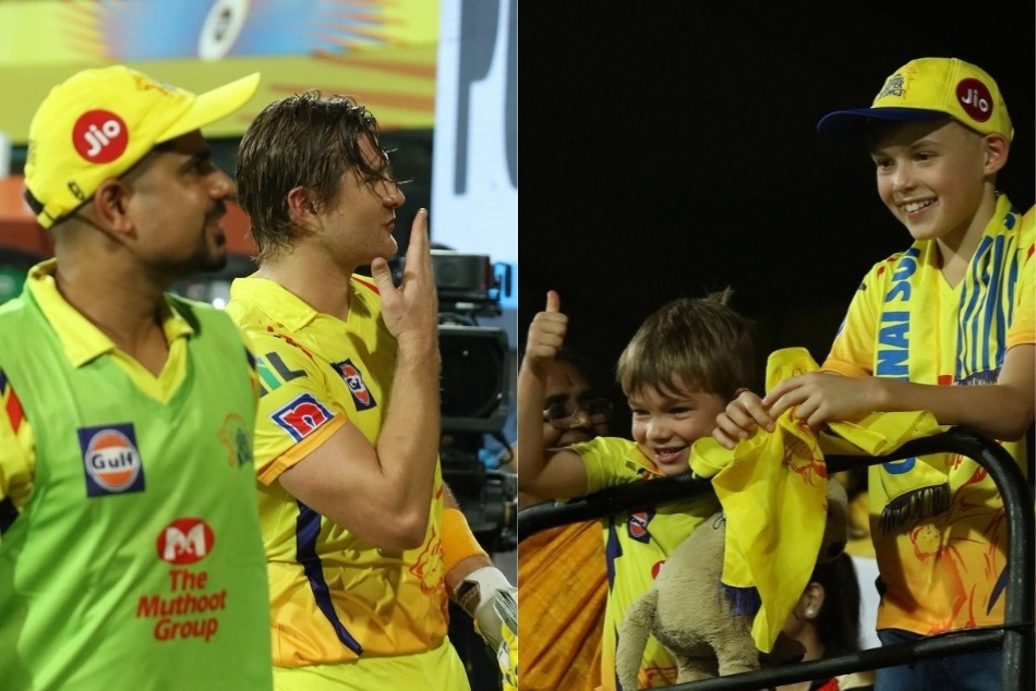 Ipl 2019 Shane Watson Winning Moment With His Son It Is Winning Hearts Also