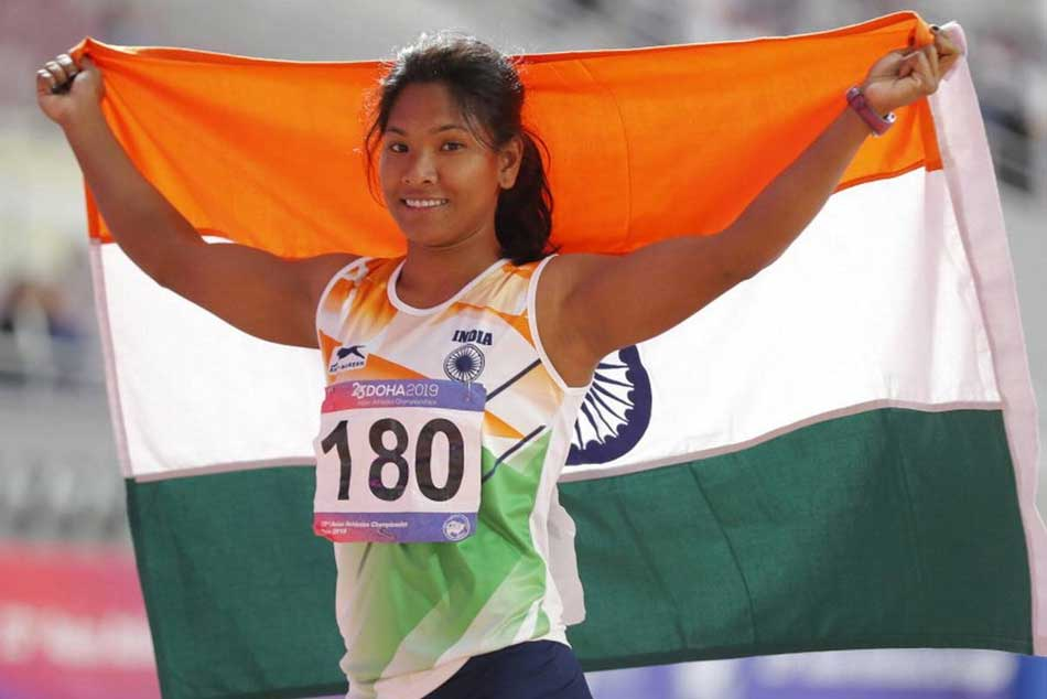 Asian Athletics Championships 2019 Swapna Barman Bags Silver In Womens Heptathlon