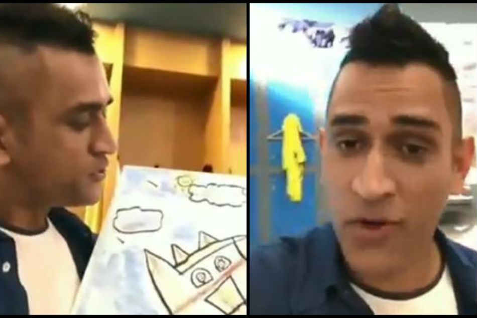 Watch Video Ms Dhoni Reveals He Wanted To Be An Artist Ahead Of World Cup
