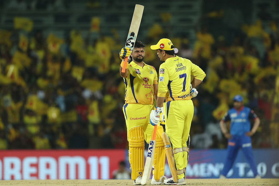 Ipl 2019 Live Score Csk Vs Dc Match At Chennai Raina Dhoni Help Csk End At 179