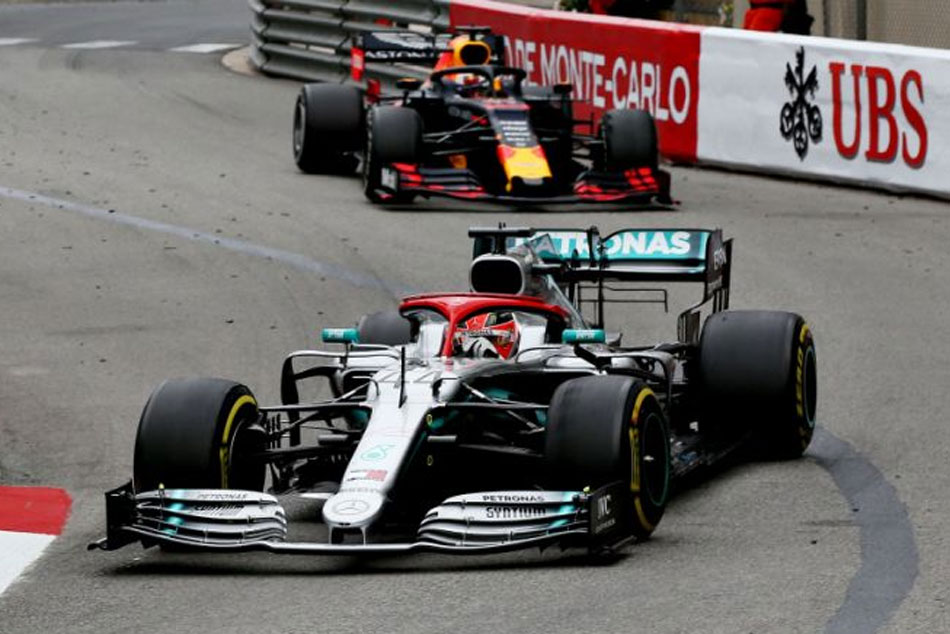 Hamilton Clings On For Monaco Glory But Mercedes One Two Run Ends