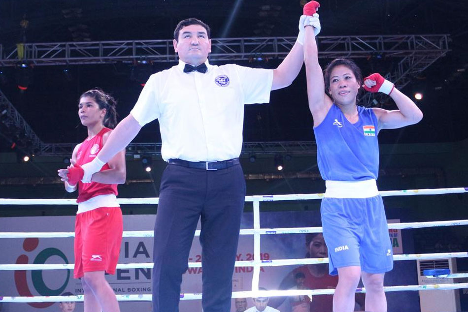Indian Open Boxing: Irritated Mary Kom overcomes Nikhat Zareen's challenge to enter final