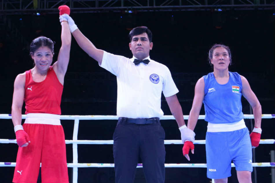 Mary Kom Shiva Thapa Dominate Finals As Amit Panghal Fights
