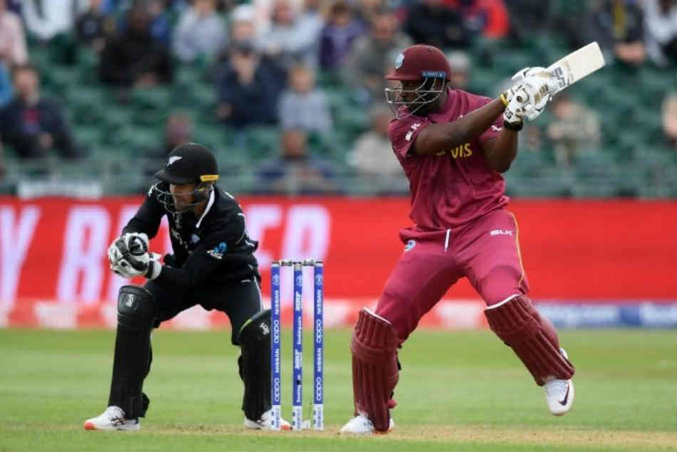 World Cup Warm Up Match Windies Ride On Hope S Ton Set New Zealand Daunting Target Of