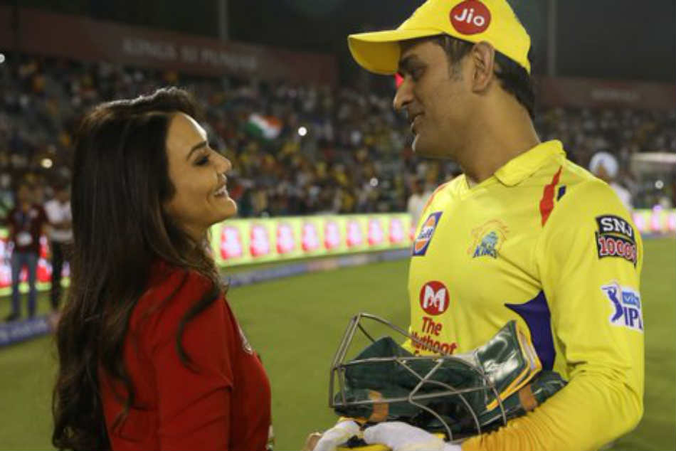 Ipl 2019 Preity Zinta Funnily Warns Ms Dhoni Of Kidnapping His Daughter Ziva
