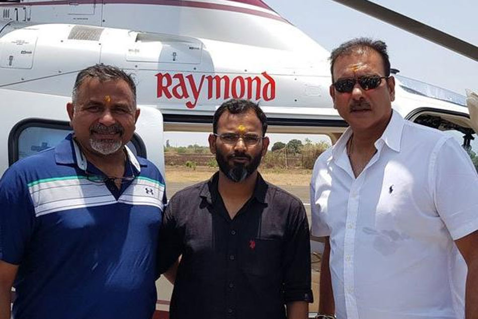 Ravi Shastri Visits Shirdi Temple With Coach R Sridhar To Seek Blessings For Successful World Cup