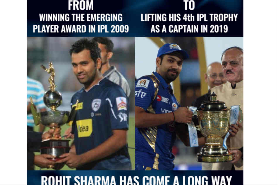 Rohit Sharma S 10 Year Challenge Photo Trending On Social Media