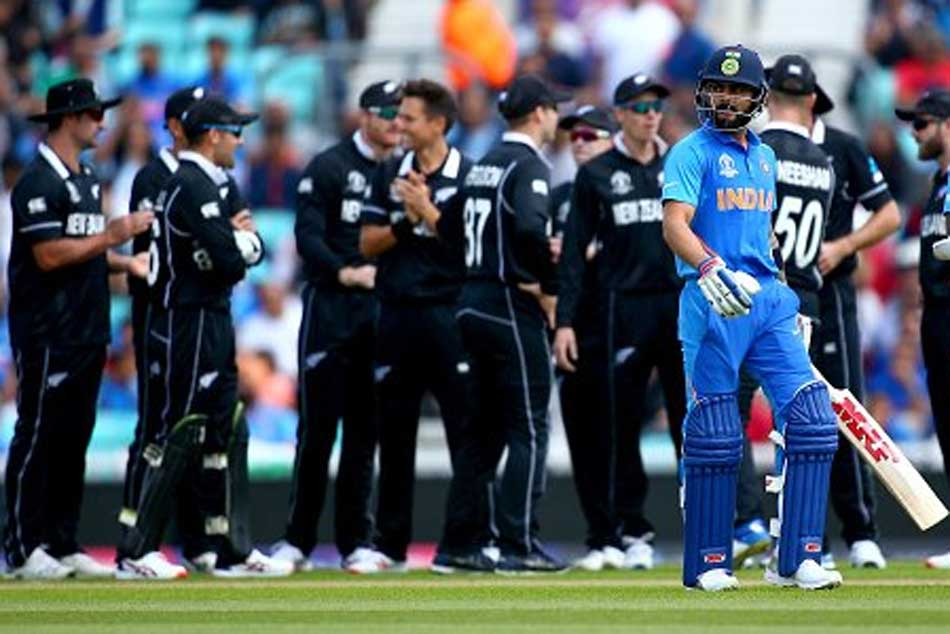 ICC Cricket World Cup 2019: Off stump uprooted, Virat Kohli stunned by a de Grandhomme in-swinger