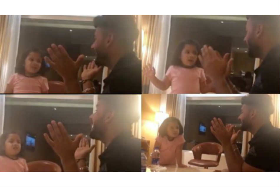 Ipl 2019 Ms Dhoni S Daughter Ziva Teaches Rishabh Pant Hindi Voweks In A Viral Video