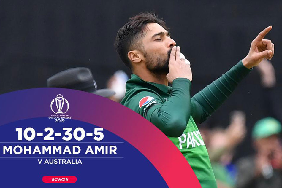 Mohammad Amir 1st Pakistan Bowler To Pick Up 5 Wicket Haul Vs Australia In World Cup