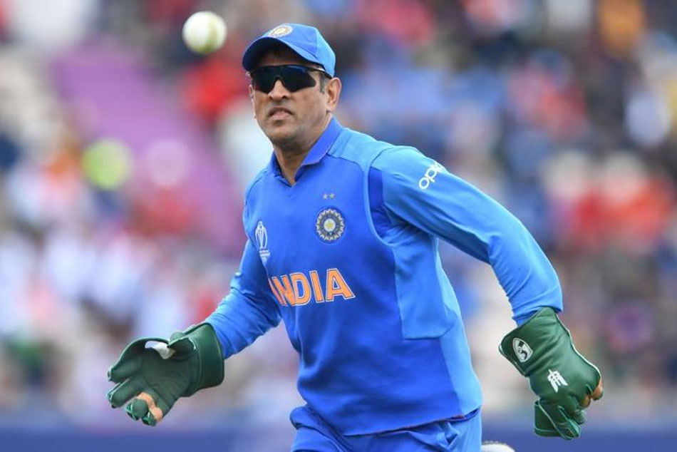 Cwc 19 Ms Dhoni Sports Gloves With Indian Army Insignia