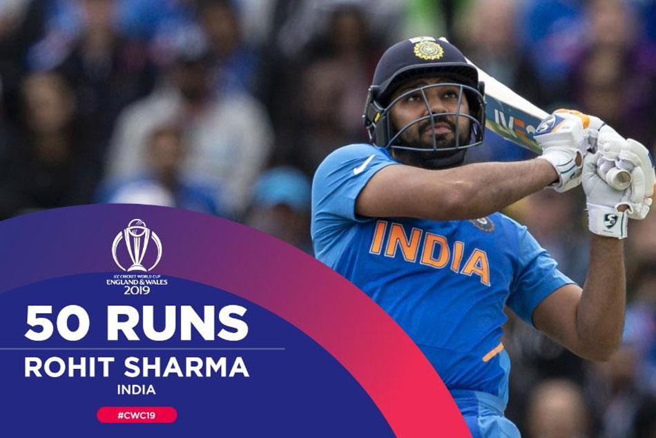 Cwc19 India Vs Pakistan India Openar Rohit Sharma Fifty Powers India To Strong Start