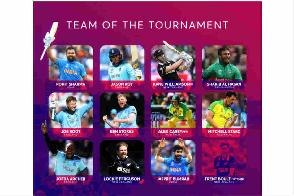 Icc Cricket World Cup 2019 Icc Reveals Official Team Of The Tournament Kane Williamson