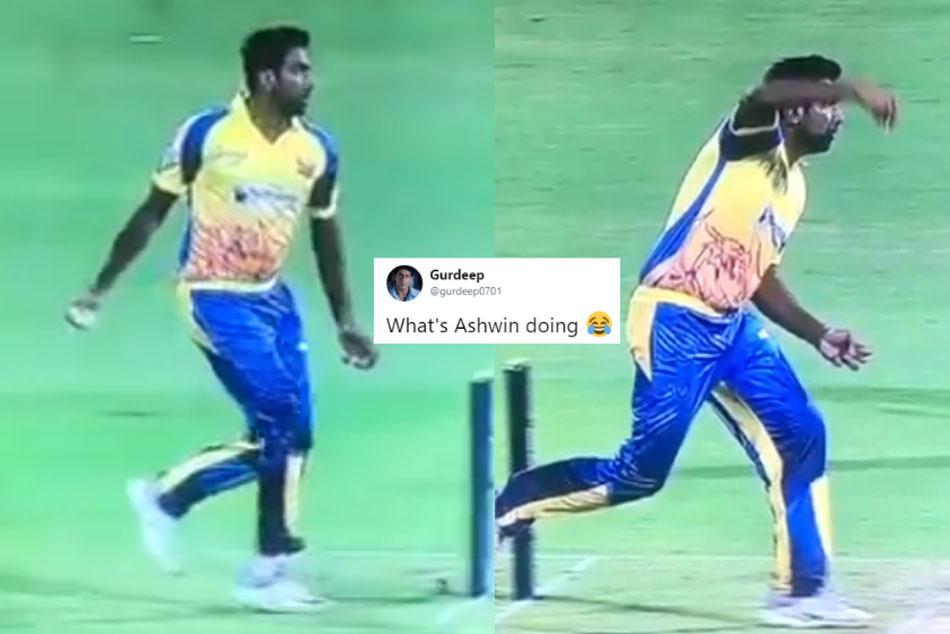 Ashwin S Bizarre Bowling Action During Tamil Nadu League Match Has Stunned Cricket Fans