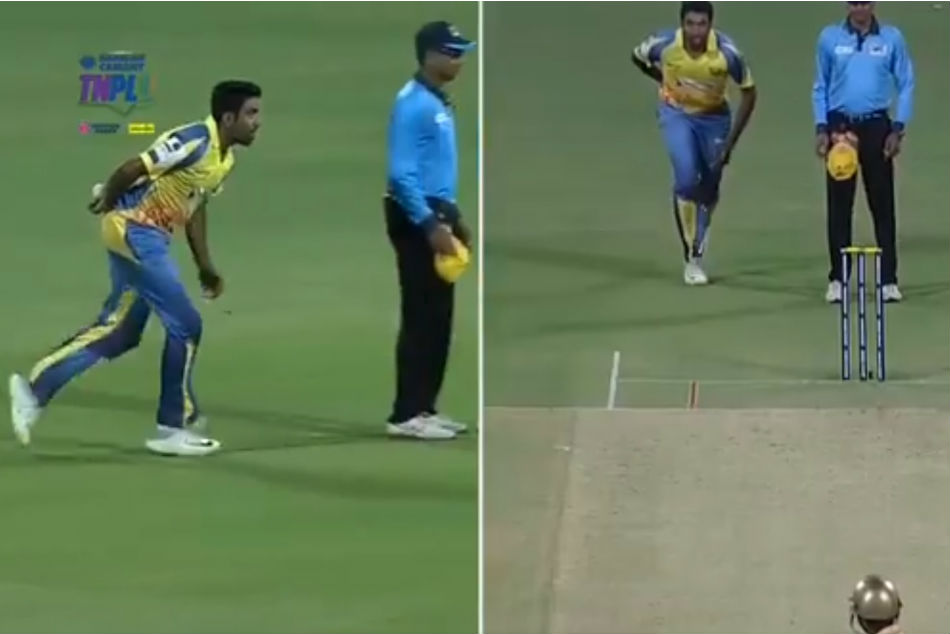 Tnpl 2019 R Ashwin Attempts Unique Bowling Action During Match Succeeds In Trapping