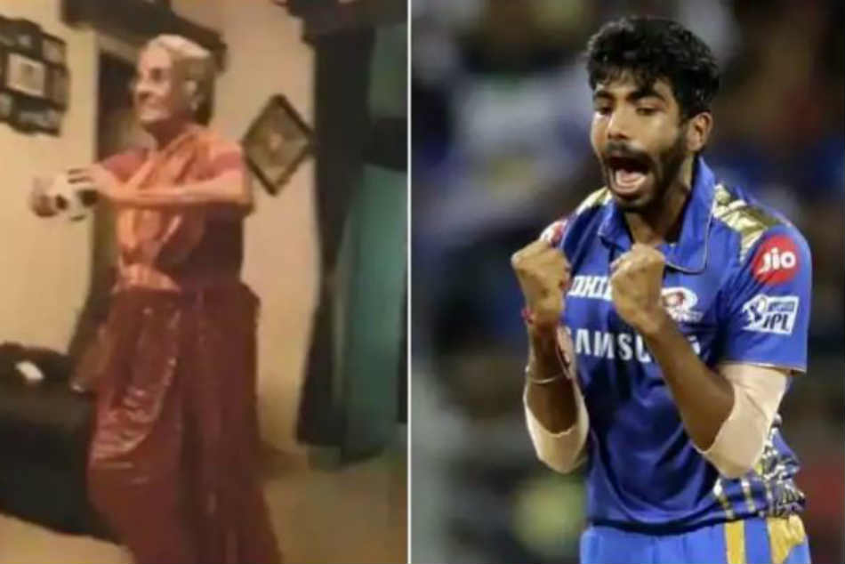 Old Lady Emulates Jasprit Bumrah's Bowling Action And Run-Up
