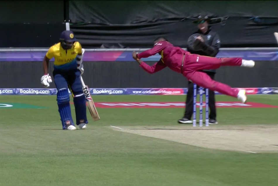 ICC Cricket world CUp 2019: Fabian Allen takes a blinder to dismiss Kusal Mendis