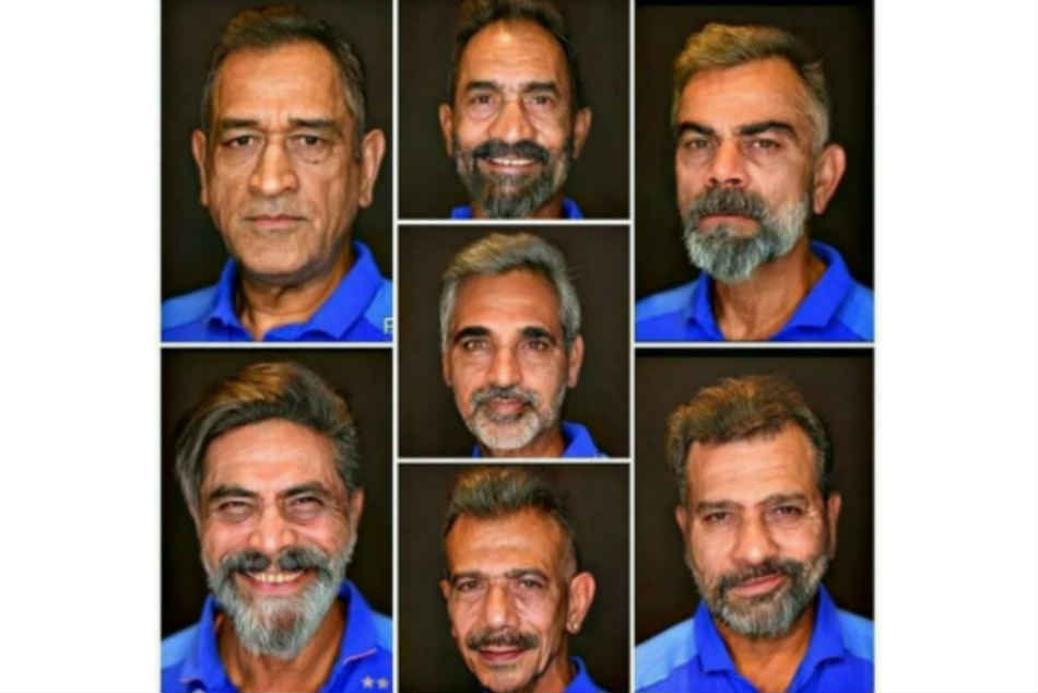 Faceapp Challenge Virat Kohli Ms Dhoni Rohit Sharma Ravindra Jadeja Old Look Is Driving