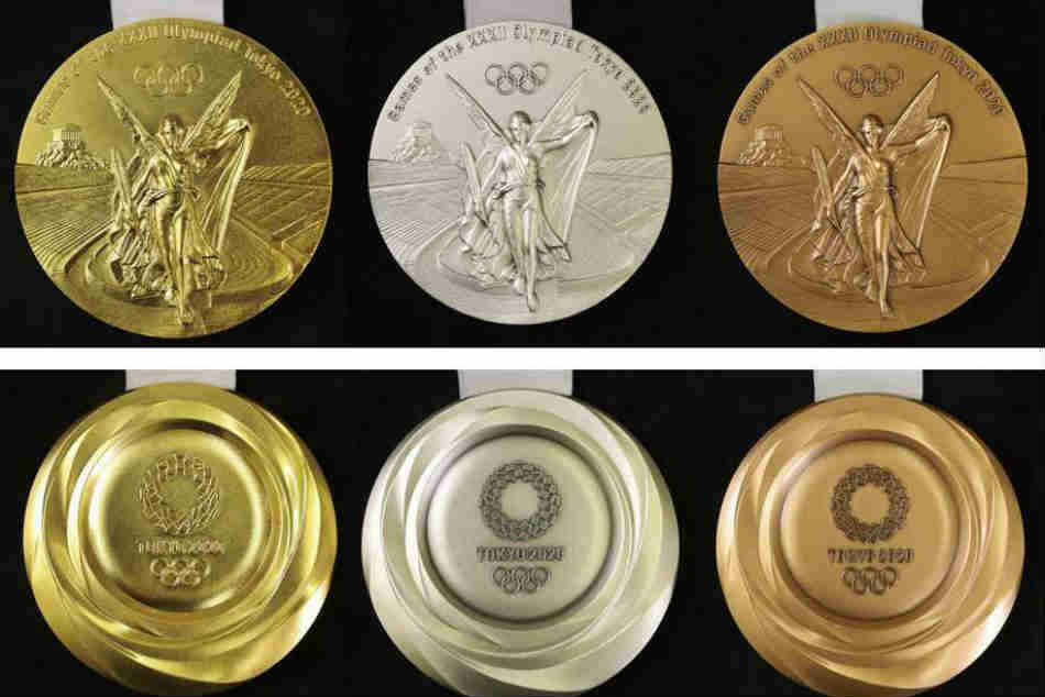 This is what the Tokyo 2020 Olympics medals will look like