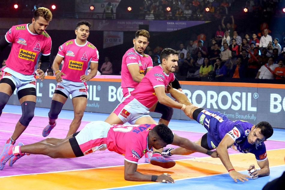 Pkl 2019 Jaipur Pink Panthers Beaten Haryana Steelers Up Yoddha Edge Out U Mumba