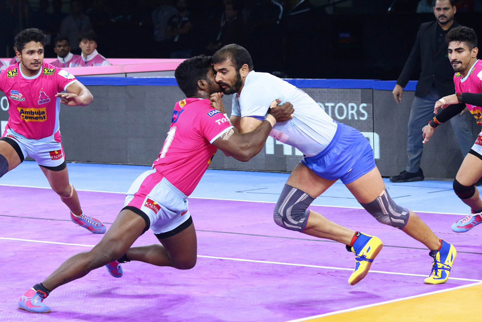 Pkl 2019 Jaipur Pink Panthers Beat Tamil Thalaivas To Extend Lead At The Top Of Standings