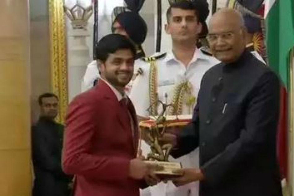 Shuttler Sai Praneeth Receives Arjuna Award From President Ram Nath Kovind